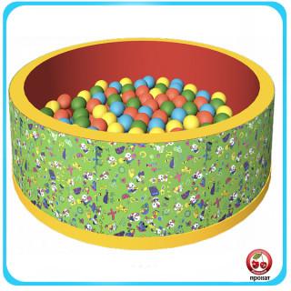 Прокат и аренда Сухого бассейна зеленого + 150 шариков в СПб для детей
