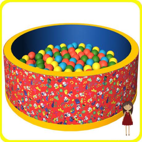 Прокат и аренда Сухого бассейна красного + 150 шариков в СПб для детей